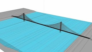 Bridge Building Animation Suspension Bridge