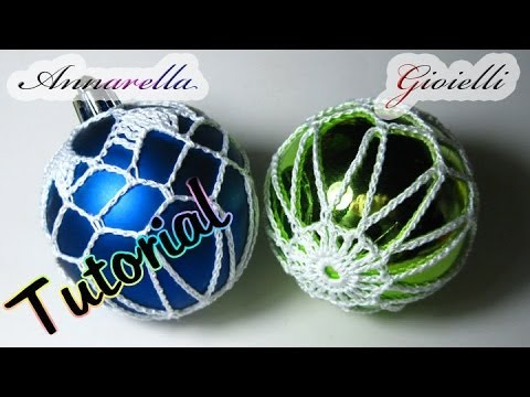 Tutorial Palla Di Natale Ricamata Alluncinetto How To Crochet