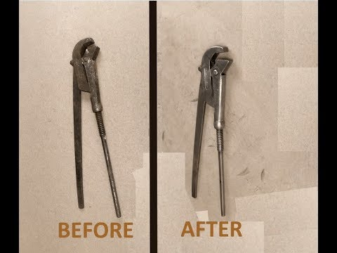 cleaning a 30 year old pipe wrench