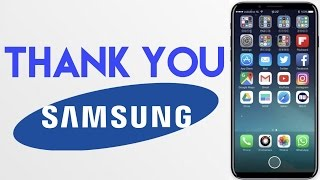 Thank Samsung for the iPhone 8