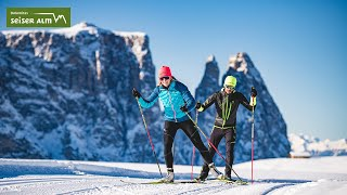 Discover the Dolomites on the cross-country trails on the Seiser Alm