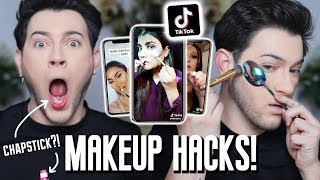 TESTING VIRAL TIKTOK MAKEUP HACKS ... yall really tried it