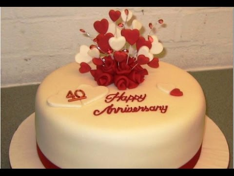 Wedding Anniversary Cake - YouTube
