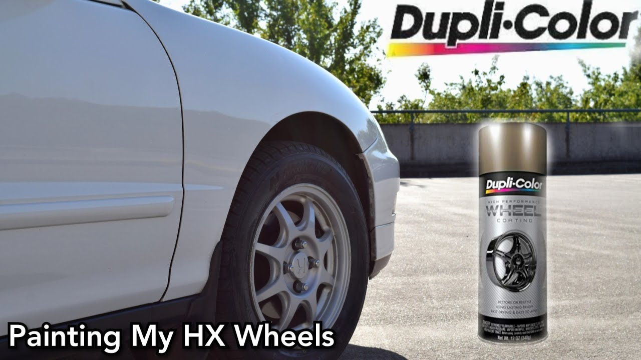 Dupli Color High Performance Bronze Wheel Coating On Hx Wheels