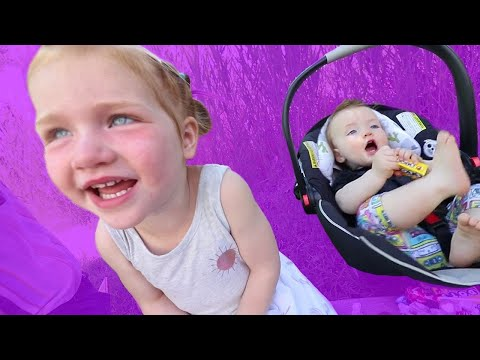 Kids React to Mom's New PURPLE CAR makeover!! my first Pizza Parade with The Spacestation! |