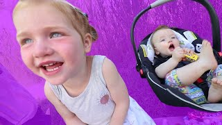 Kids React To Momand39s New Purple Car Makeover My First Pizza Parade With The Spacestation