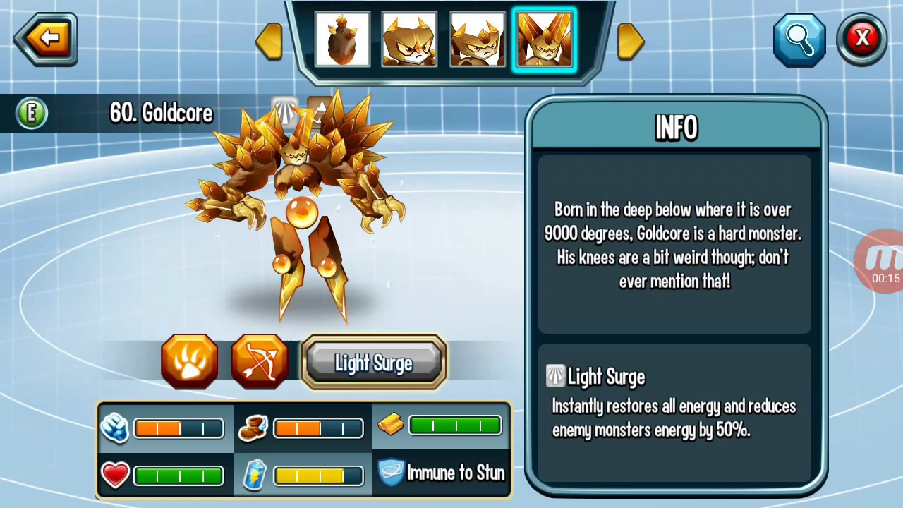 monster legends guide how to breed goldcore