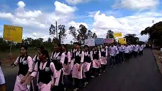 Arabhavi horticulture students protesting against PRIVATIZATION of farm science colleges