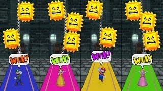 Mario Party 9 Minigames Luigi vs Daisy vs Mario vs Peach Master