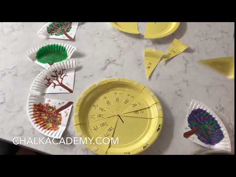 Paper Plate Seasons Puzzle