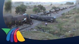 """Tráiler """"vuela"""" y cae sobre ferrocarril en Guanajuato   Noticias de Guanajuato"""