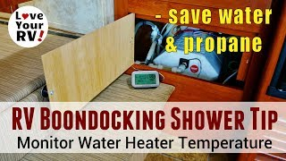 RV Boondocking Water and Propane Saving Shower Tip