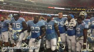 UNC Tar Heels after loss to Georgia Bulldogs in Chick-Fil-A Kickoff Game