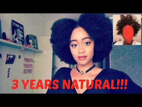 3 year natural hair journey