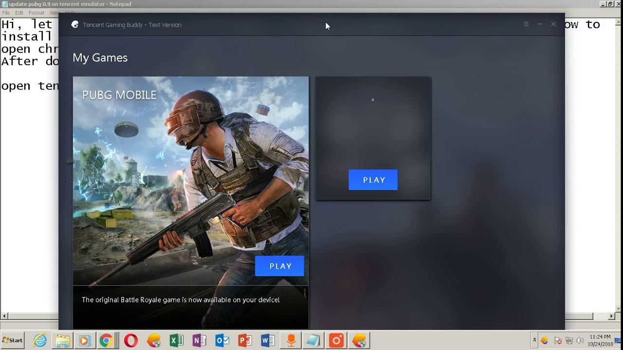 Update pubg 0 9 in Tencent emulator from apkpure part 1