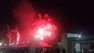 Burj al arab fire works 2017