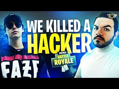 COURAGE & CIZZORZ KILL A HACKER IN FORTNITE! INSANE FREAKOUT! (Fortnite: Battle Royale)