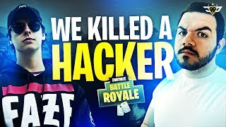 COURAGE & CIZZORZ KILL A HACKER IN FORTNITE! INSANE FREAKOUT! (Fortnite: Battle Royale)