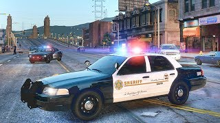 GTA 5 MODS LSPDFR 965  - LASD GANG UNIT PATROL!!! (GTA 5 REAL LIFE PC MOD)