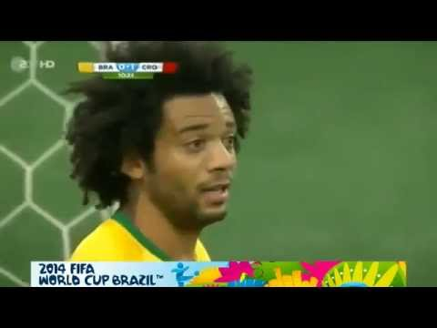EPIC FACE MARCELO!! Own GOAL ~ Brazil vs Croatia 0-1 | Fifa World Cup 2014