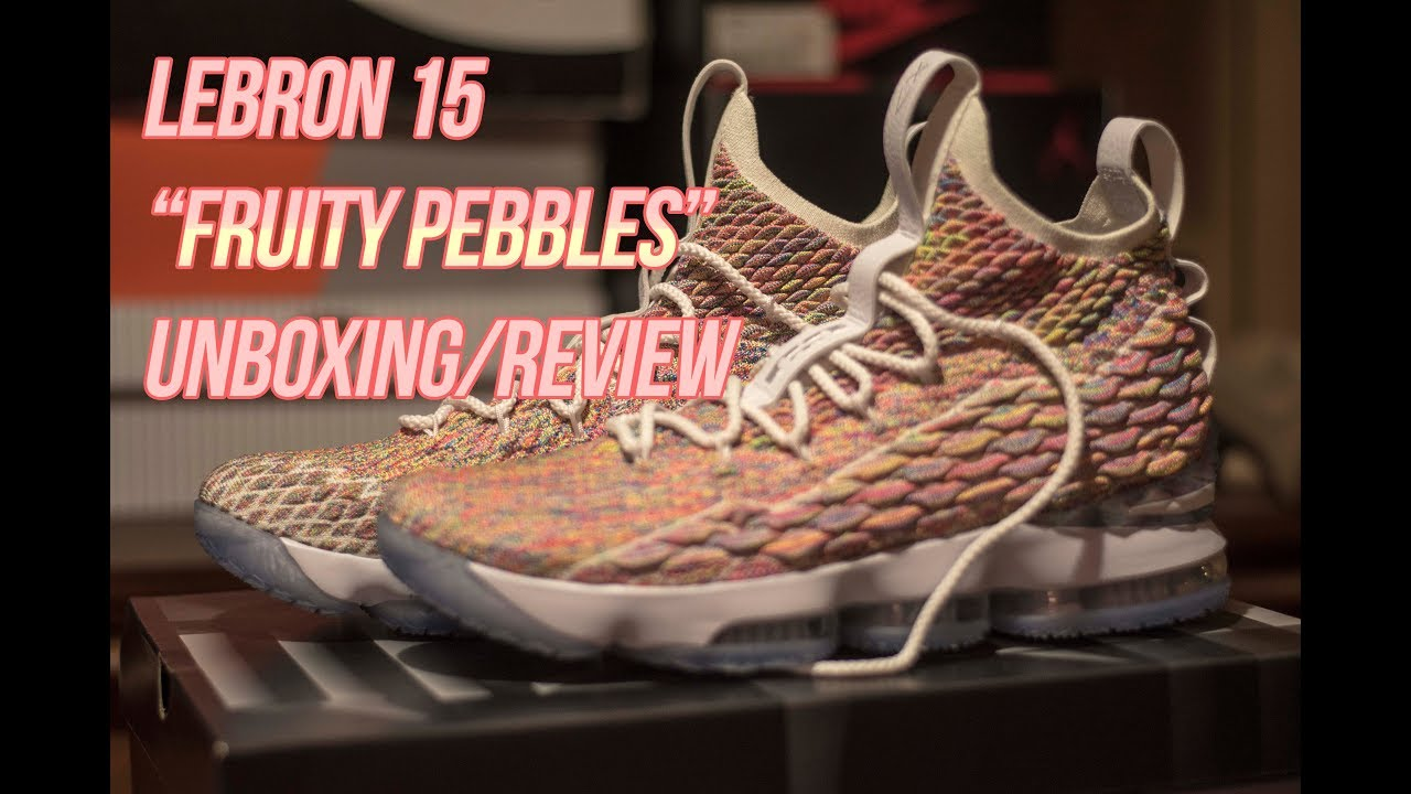 3e0698d527f Nike Lebron 15 Fruity Pebbles  Unboxing and Review - YouTube