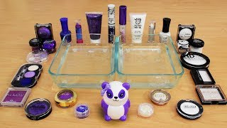 Mixing Makeup Eyeshadow Into Slime ! Purple vs White Special Series Part 36 Satisfying Slime Video