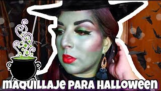 ELPHABA WICKED | tutorial de maquillaje halloween