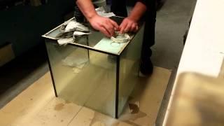berlaufschacht loch in aquarium bohren entstehung 125l nanoriff meerwasseraquarium teil 1