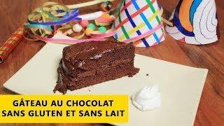 Recette de gâteau au chocolat sans gluten et sans lait