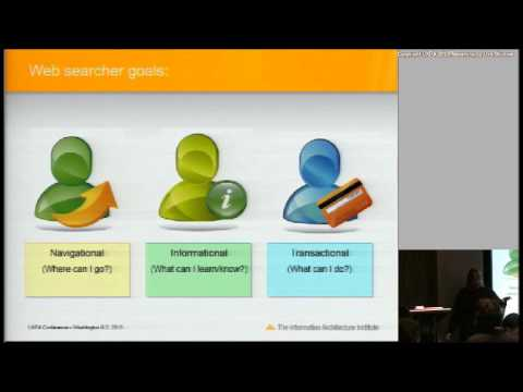 Understanding Information Architecture - Dan Klyn and Shari Thurow at UXPA 2013