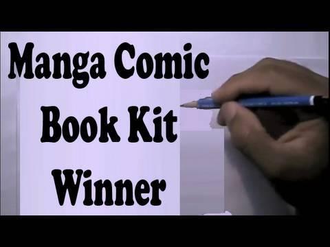 Manga Comic Book Drawing Kit Winner!