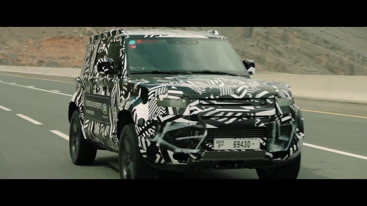 New Land Rover DEFENDER – Red Cross Desert Testing - YouTube