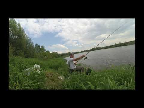 река Ока Калужская область, рыбалка на фидер. Май 2019