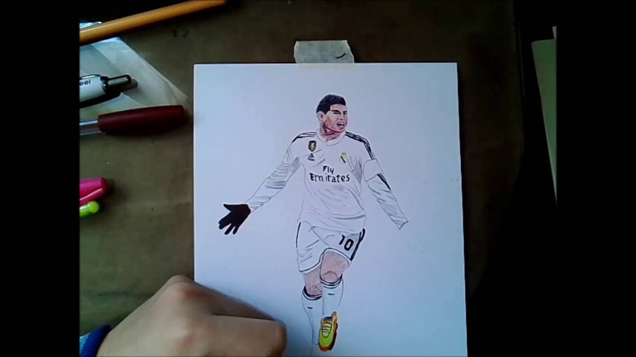 How To Draw James Rodriguez Como Dibujar A James Rodriguez Real