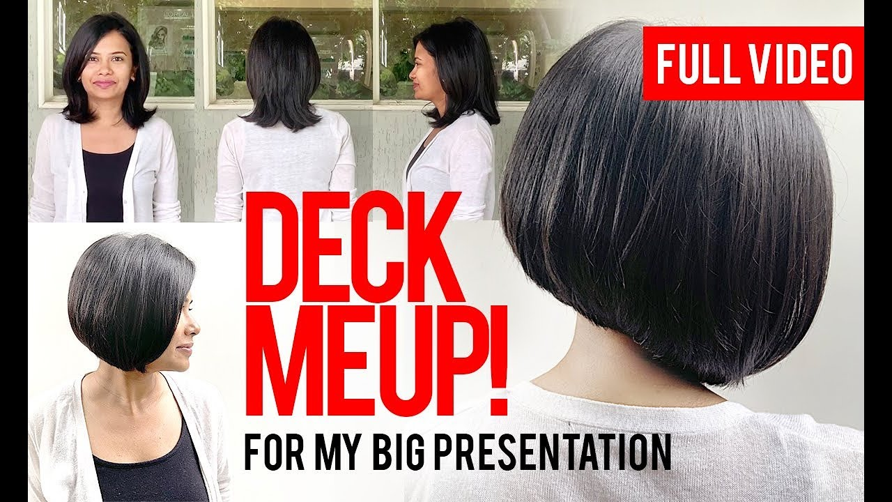 Short A Line Chin Length Bob Haircut Cut Style Salon Youtube