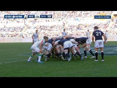 Italy v Scotland - Official Short Highlights World Wide 22nd February 2014