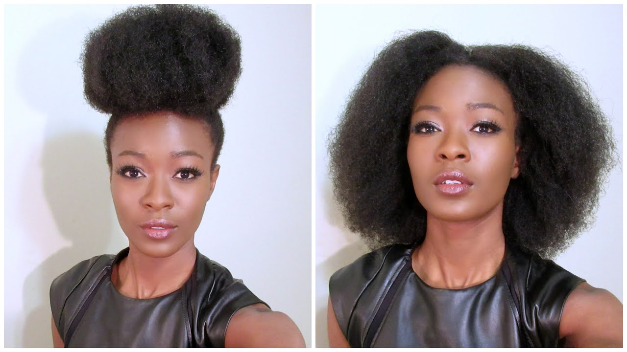 How To Super High Puff Bun on Stretched 4c Natural Hair