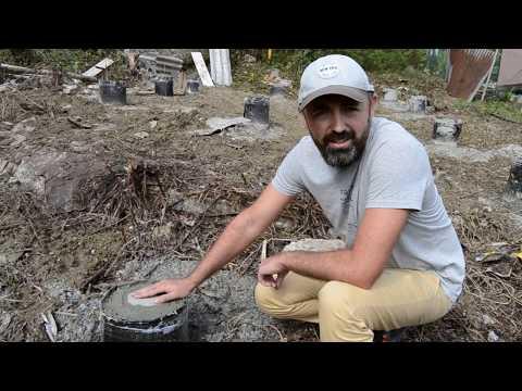 Свайный фундамент на склоне под каркасный дом. Часть 1.