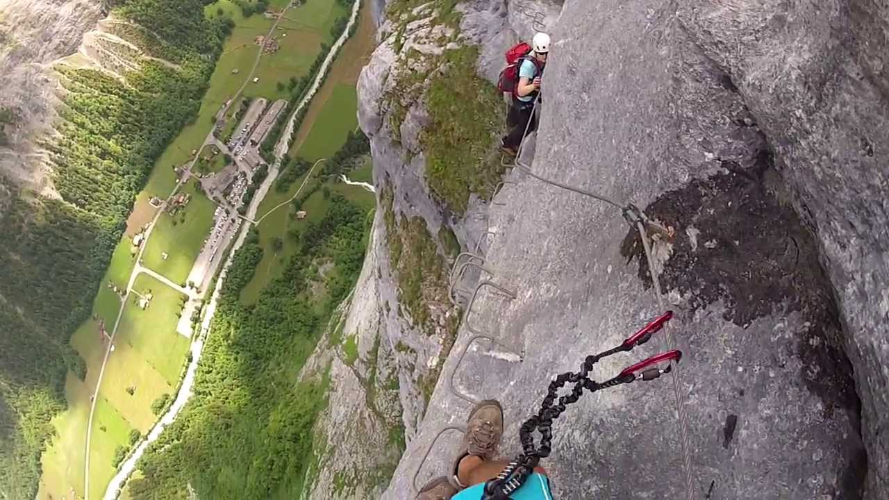Klettersteig Lauterbrunnen : Via ferrata murren gimmelwald lauterbrunnen youtube