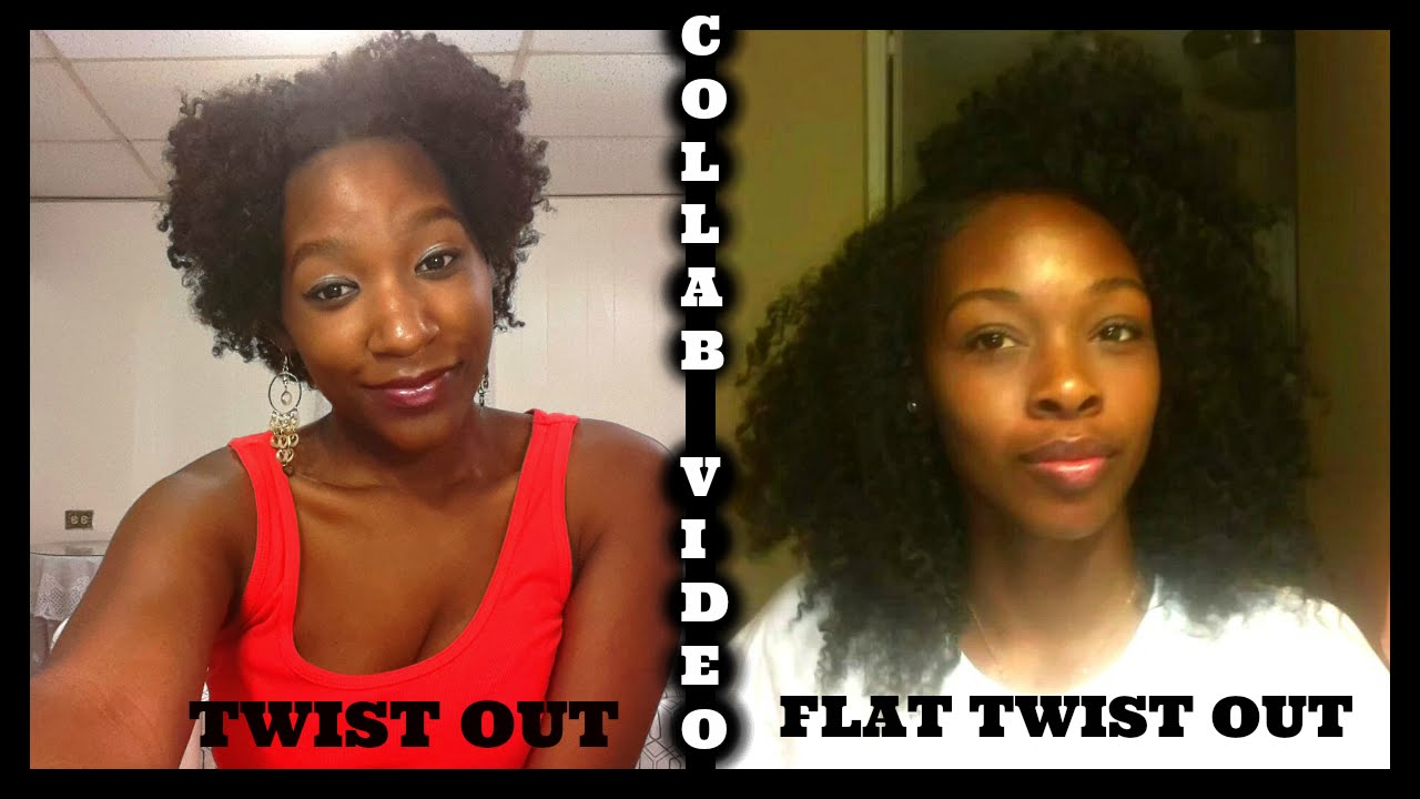Natural Hair Tutorial Twist Out Vs Flat Twist Out Youtube