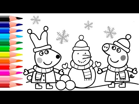 Peppa Pig Coloring Book Games : Pig colour in