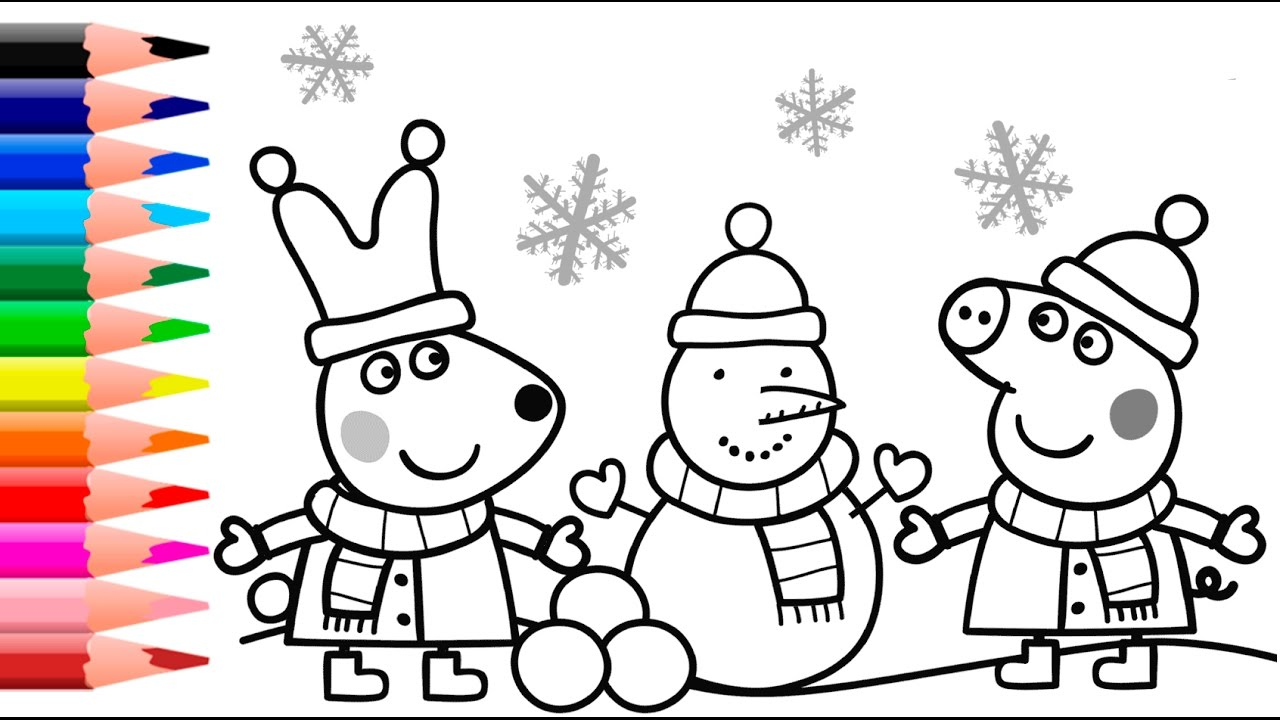 peppa pig coloring pages peppa pig christmas coloring book youtube - Pig Coloring Pages
