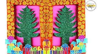 DIY Christmas Frame | Dollar Tree Craft Ideas | Glitter Sheet Christmas Frame | Just Craft