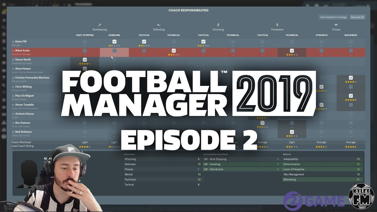 Football Manager 2019: Training, Staff Recruitment and Medical Centre