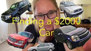 $2000 Car Shopping