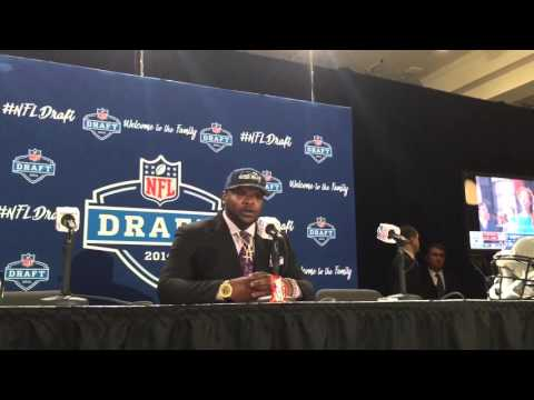 Jarran Reed speaks after being drafted by the Seattle Seahawks