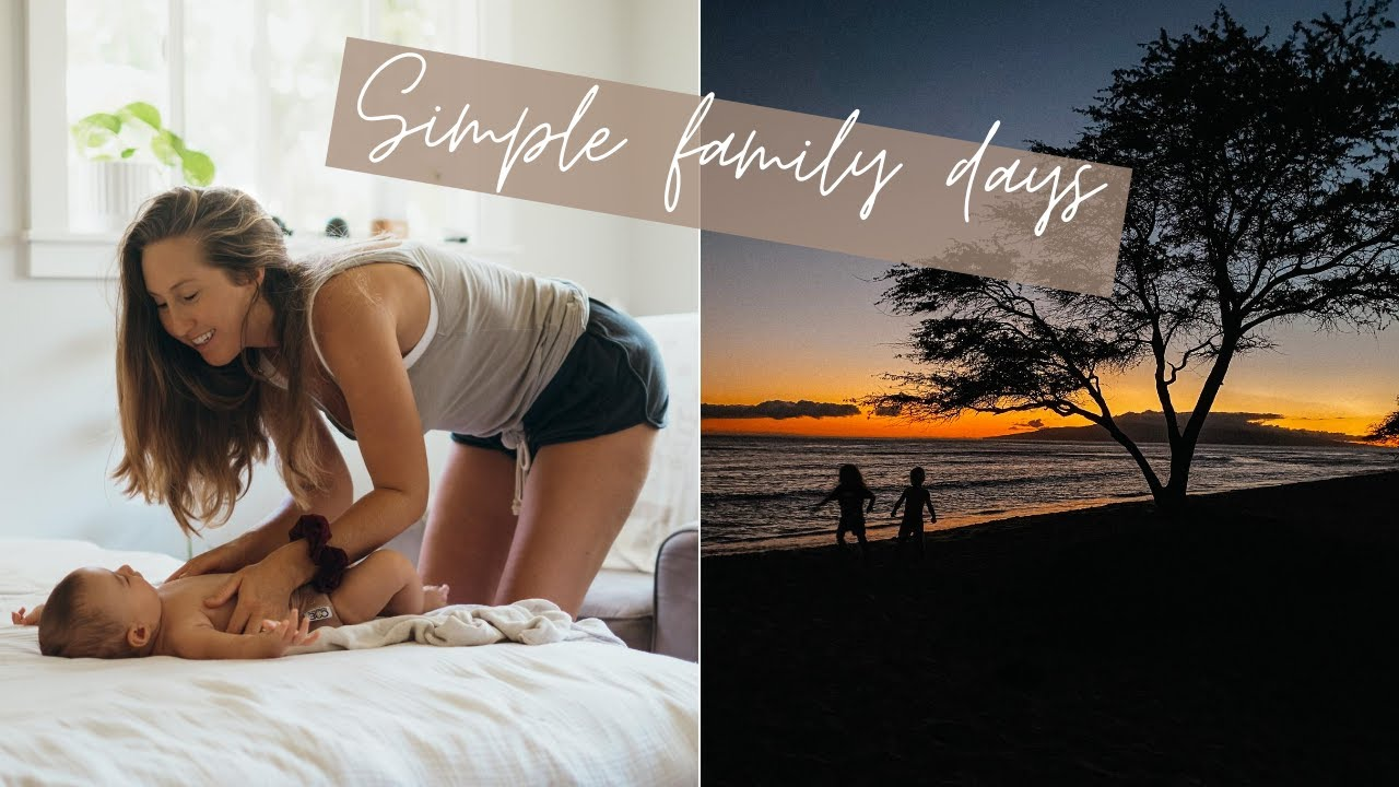a simple day in our vegan family Hawai'i life