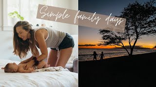 a simple day iฑ our vegan family Hawai'i life