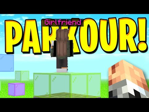 Can my GIRLFRIEND beat me in PARKOUR? | #5 Minecraft SURVIVAL [1.15.2]