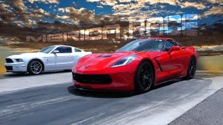 Grudge Race C7 Corvette Supercharged VS Mustang GT500 Full Boltons